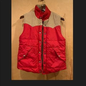 Roxy reversible red and corduroy vest